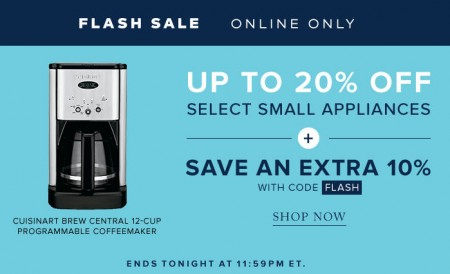 TheBay Flash Sale - Up to 20 Off Small Appliances, Save an Extra 10 Off Promo Code (Mar 4)