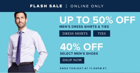 TheBay Flash Sale - Up to 50 Off Men's Dress Shirts & Ties, 40 Off Men's Shoes (Mar 20)