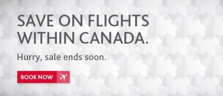 Air Canada Canada Sale (Book by Apr 14)