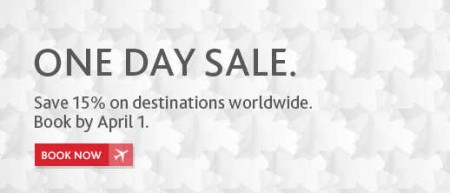 Air Canada One Day Sale - 15 Off Destinations Worldwide (Book by Apr 5)