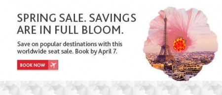 Air Canada Spring Sale - Save on Popular Worldwide Destinations (Book by Apr 7)