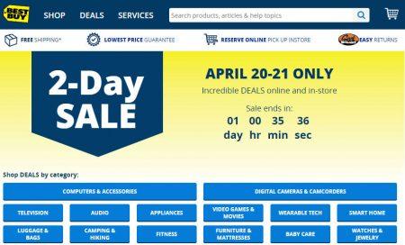 Best Buy 2-Day Sale (Apr 20-21)