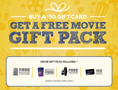 Cineplex Buy $30 Gift Card, Get a Free Movie Gift Pack