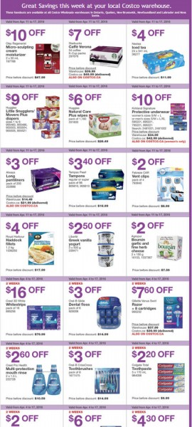 Costco Weekly Handout Instant Savings Coupons East (Apr 11-17)