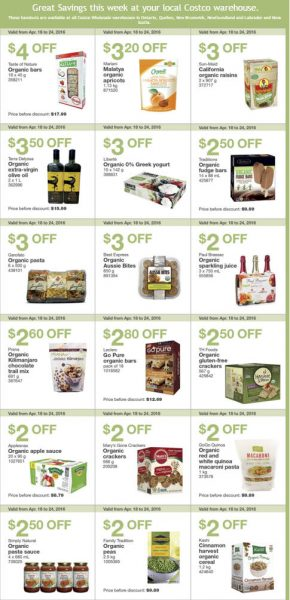 Costco Weekly Handout Instant Savings Coupons East (Apr 18-24)
