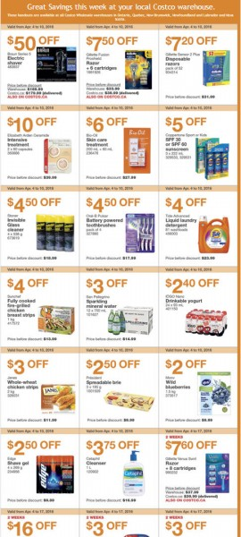 Costco Weekly Handout Instant Savings Coupons East (Apr 4-10)