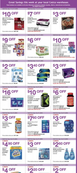 Costco Weekly Handout Instant Savings Coupons West (Apr 11-17)