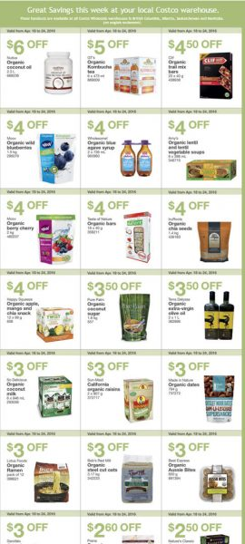 Costco Weekly Handout Instant Savings Coupons West (Apr 18-24)