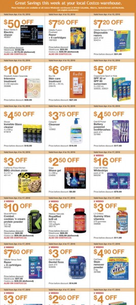 Costco Weekly Handout Instant Savings Coupons West (Apr 4-10)