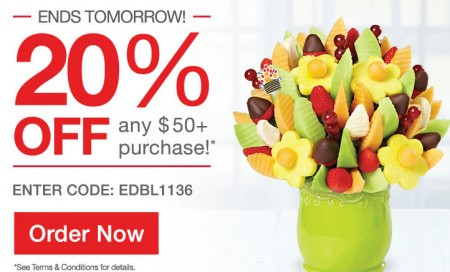 Edible Arrangements 20 Off Any $50+ Purchase Promo Code (Until Apr 11)