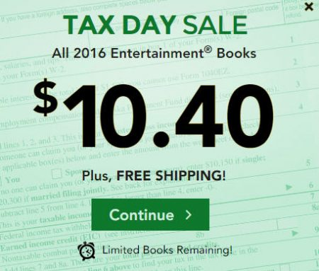 Entertainment Book: Tax Day Sale - All 2016 Coupon Books ...