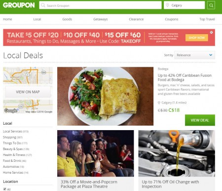 GROUPON Promo Code - Take Extra $5 Off $20, $10 Off $40, or $15 Off $60 (Apr 1-3)