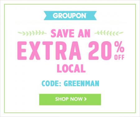 GROUPON - Secret Promo Code - Extra 20 Off Local Deals (Apr 14-19)