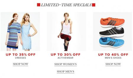 Hudson's Bay Bay Days - Up to 35 Off Dresses, Up to 30 Off Activewear, Up to 40 Off Men's Shoes (Apr 8-14)