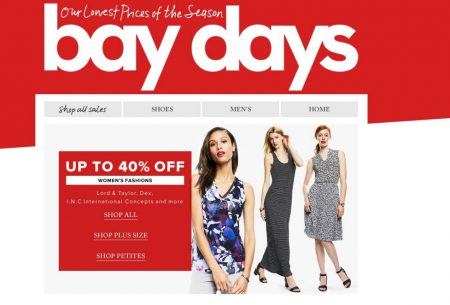 Hudson's Bay Bay Days - Up to 40 Off Women's Fashions