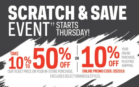 Sport Chek Scratch & Save Event (Apr 7-10)