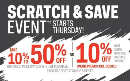 Sport Chek Scratch & Save Event (Apr 7-10)