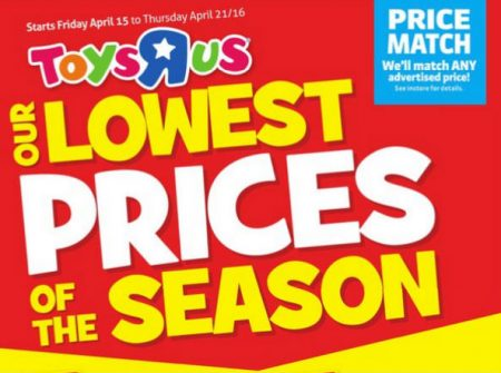 Toys R Us Lowest Prices of the Season (Apr 15-21)