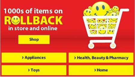 Walmart.ca 1000's of Items on Rollback
