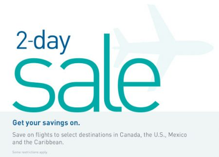 WestJet 2-Day Seat Sale (Apr 19-20)