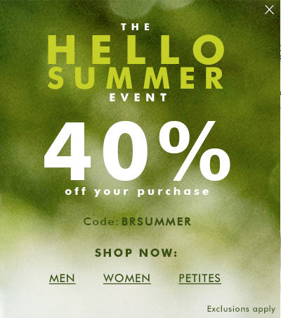 Banana Republic 40 Off Your Purchase Promo Code (May 17-23)