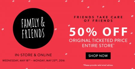 Bench Family & Friends Sale - 50 Off Entire Store (May 18-23)