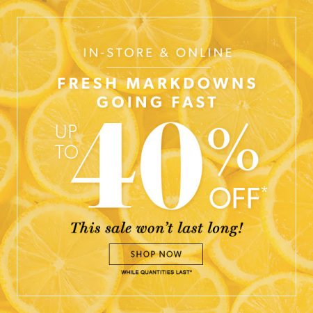 Chapters Indigo Fresh Markdowns up to 40 Off