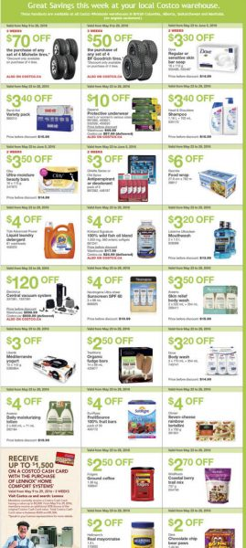 Costco Weekly Handout Instant Savings West Coupons (May 23-29)