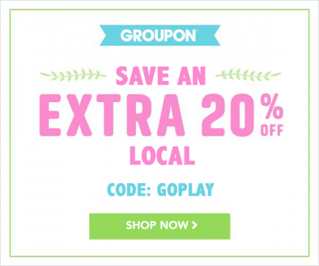GROUPON Extra 20 Off Local Deals Promo Code (May 15-17)