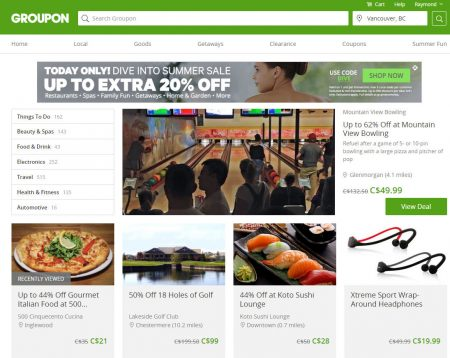 GROUPON Today Only - Up to an Extra 20 Off Promo Code (May 31)