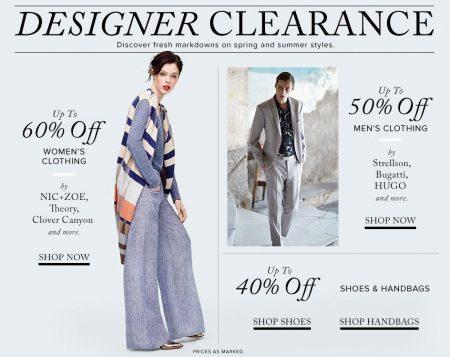 Hudson's Bay Designer Clearance Sale - Save up to 60 Off!