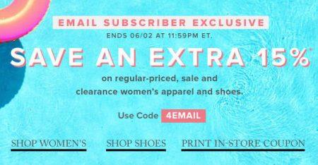 Hudson's Bay Extra 15 Off Promo Code (Until June 2)