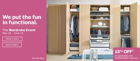 IKEA Wardrobe Event - 15 Off All Wardrobes and Komplement Interiors (May 16 - June 13)