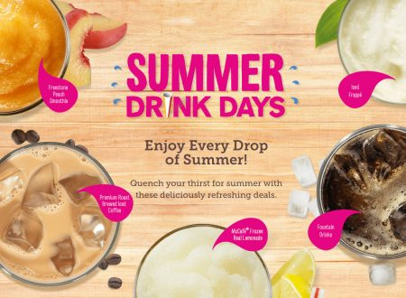 McDonald's Summer Drink Days 2016 - $1 Any Size Soft Drink