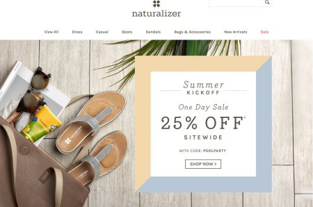 Naturalizer One Day Sale - 25 Off Sitewide Promo Code (May 26)