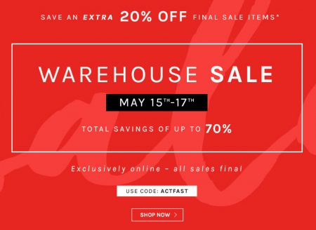 Naturalizer Warehouse Sale - Save up to 70 Off (May 15-17)