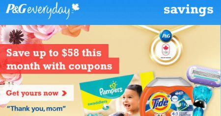 P&G Everyday Save up to $58 with New Coupons this Month