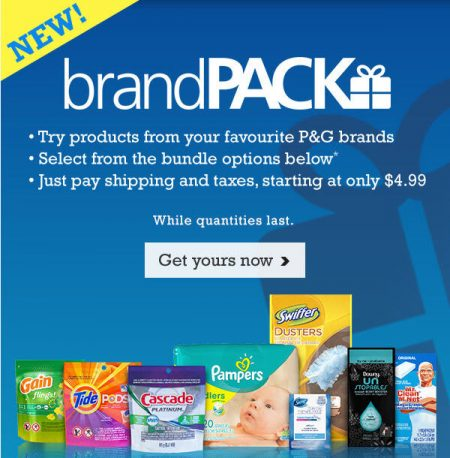 P&G Everyday Try P&G brandPACK from $4.99