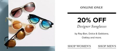 TheBay 20 Off Designer Sunglasses (Online-Only)