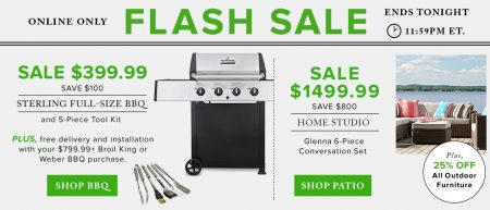 TheBay Flash Sale - $399.99 for Sterling Full-Size BBQ Set, 25 Off Outdoor Furniture (May 16)