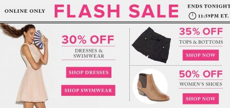 TheBay Flash Sale - 50 Of Women's Shoes, 30 Off Dresses & Swimwear, 35 Off Tops & Bottoms (May 10)