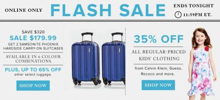 TheBay Flash Sale - 64 Off Samsonite Luggage, 35 Off All Kids' Clothing (May 25)