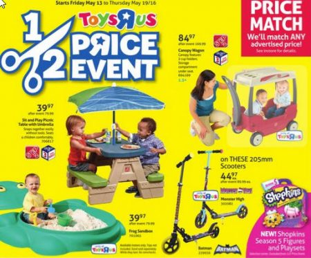 Toys R Us Half Price Event (May 13-19)