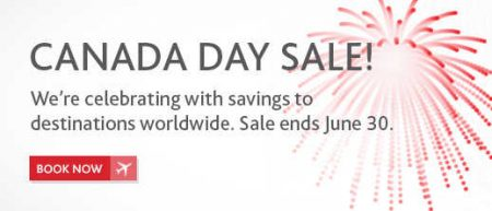 Air Canada Canada Day Sale (Book by June 30)