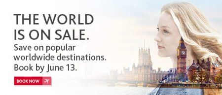 Air Canada The World is on Sale (Book by June 13)