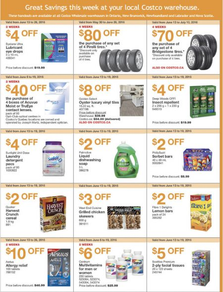 Costco Weekly Handout Instant Savings East Coupons (June 13-19)