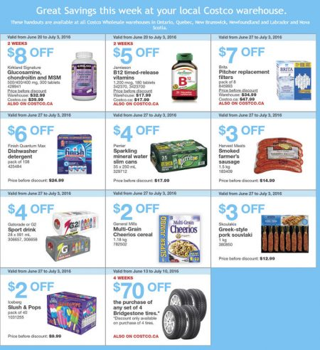 Costco Weekly Handout Instant Savings East Coupons (June 27 - July 3)