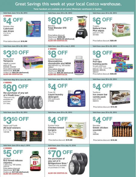Costco Weekly Handout Instant Savings Quebec Coupons (June 20-26)