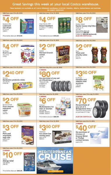 Costco Weekly Handout Instant Savings West Coupons (June 13-19)