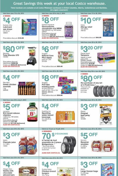 Costco Weekly Handout Instant Savings West Coupons (June 20-26)